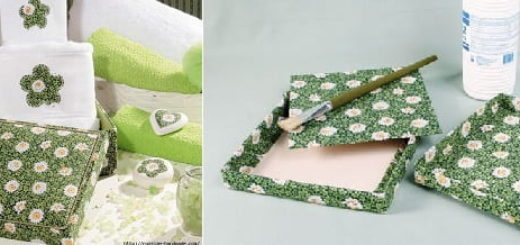 Декорирование коробок тканью. Маленький мастер-класс