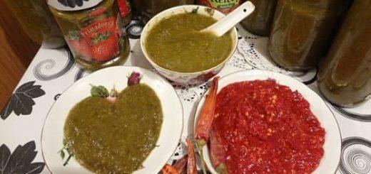 Грузинский соус ткемали из алычи и аджика на зиму