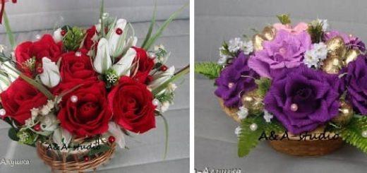 Как сделать бутон розы из гофрированной бумаги