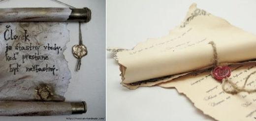 Как сделать винтажный свиток из бумаги