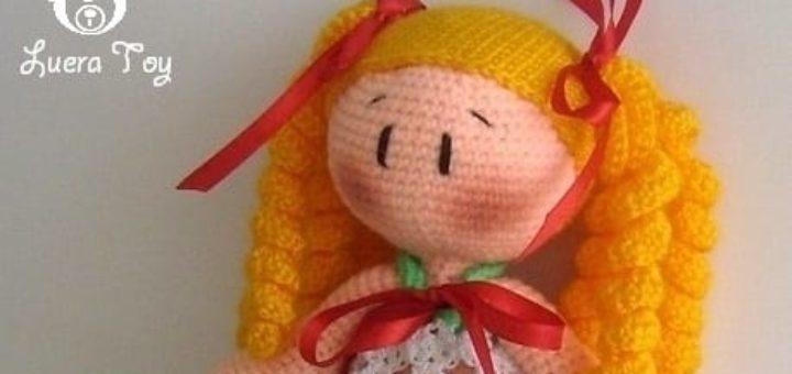 Как связать крючком куколку амигуруми
