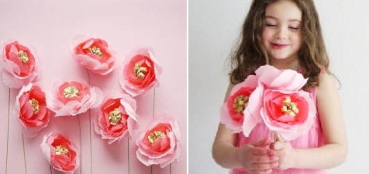 Цветы из креповой бумаги. Мастер-класс