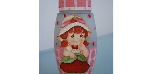 Детский вариант декорирования бутылочки