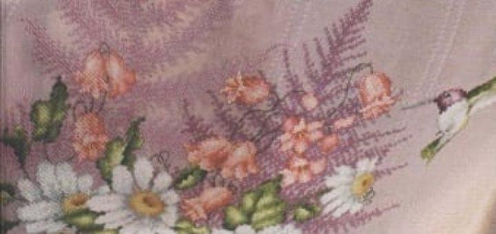 Очень красивая вышивка для скатертей