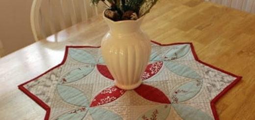 Рождественская салфетка. Лоскутное шитье