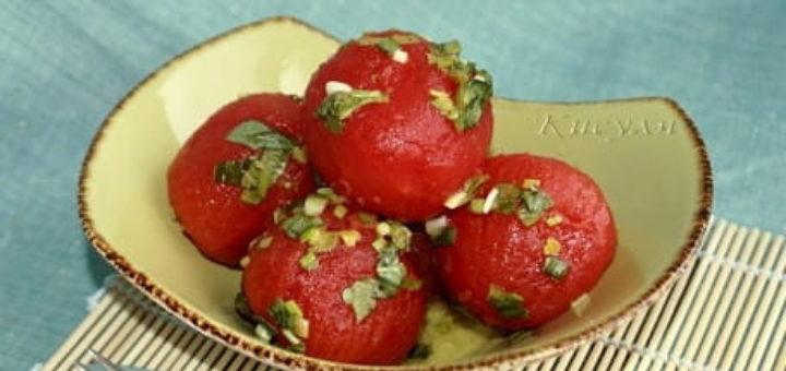 Как замариновать помидоры холодным способом