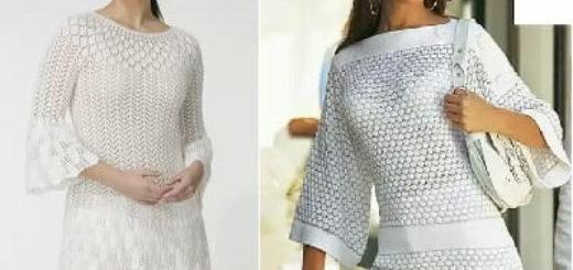 Пуловер и ажурная туника спицами