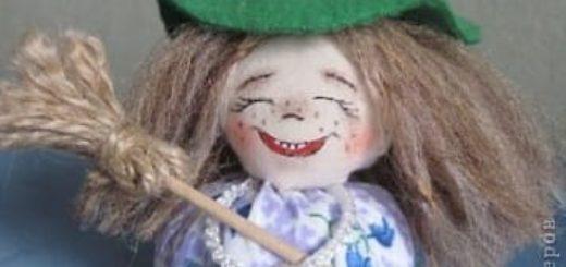 Шьем забавную ведьмочку. Мастер-класс