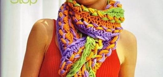 Вязание на линейке. Модный шарф