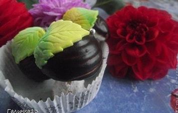 Осенний десерт. Сладкие шоколадные грибочки