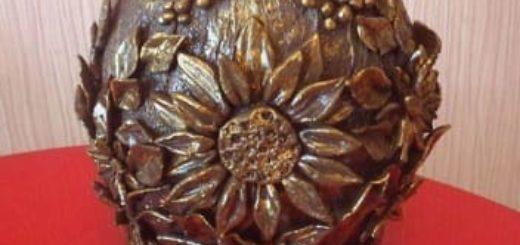 Декорирование вазочки самозатвердевающей массой керапласт