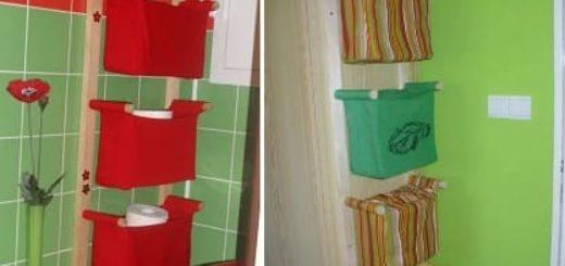 Отличная идея для ванной комнаты. Шьем кармашки