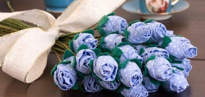 Цветы из ткани. РОЗЫ и ГВОЗДИКИ