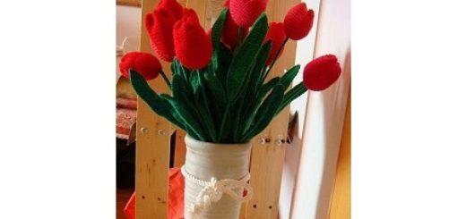 Вязание цветов крючком. ТЮЛЬПАНЫ