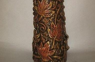 Декор старой вазы соленым тестом