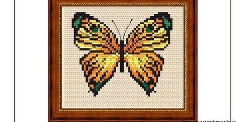 Любителям бабочек. ВЫШИВКА