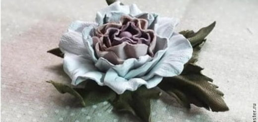 Розы из кожи. Мастер-класс