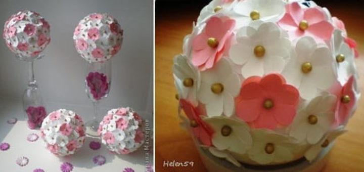 Цветочные шары для украшения праздничного интерьера
