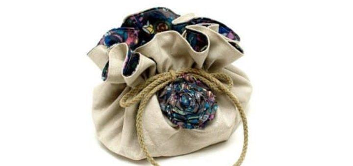Как сшить сумочку-мешочек для бижутерии