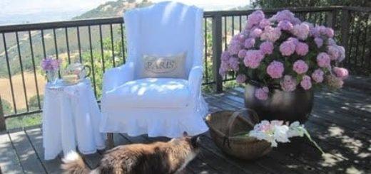 Обновляем кресло и шьем чехол своими руками