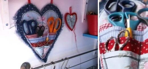 Органайзер в форме сердца для рукоделия