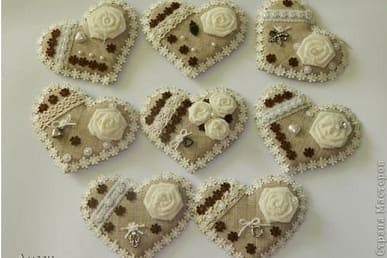 Валентинки-магнитики в винтажном стиле