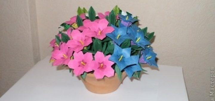 Весенний букет полевых цветов в технике оригами