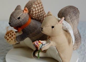 Выкройки игрушек. Белочки, улитка и совушки