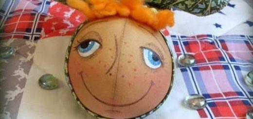 Пасхальный колобок и кукла Тыковка от Натальи Пахомовой