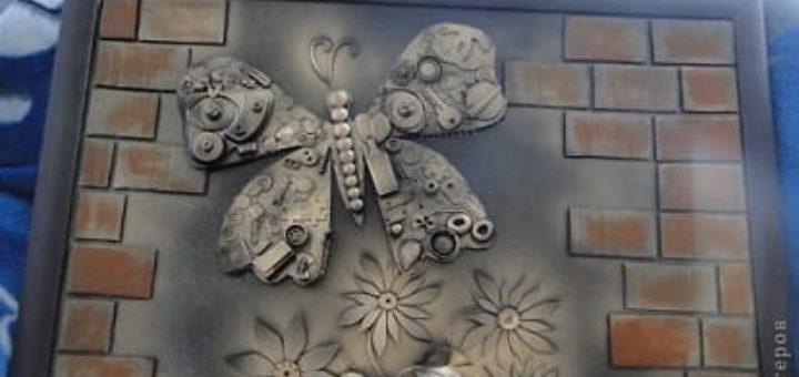 Декоративная картина с бабочкой