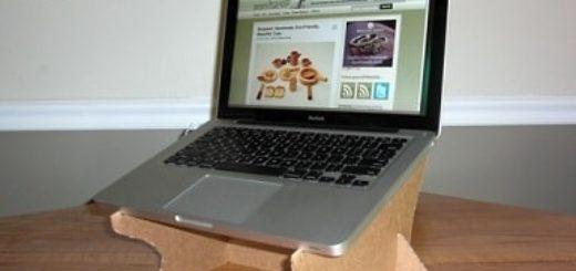 Из картона. Подставка для охлаждения ноутбука