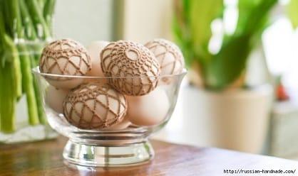 Как обвязать крючком пасхальное яйцо