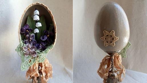 Ландыши крючком для пасхального яйца