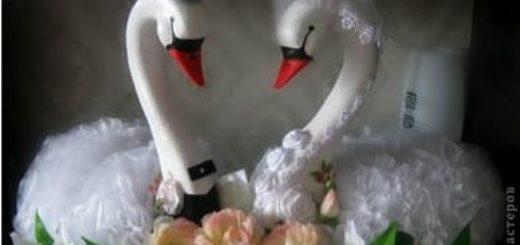 Лебеди из пеноплекса и полимерной глины