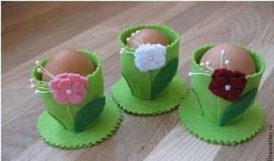 Нарядные Фетровые стаканчики для яиц