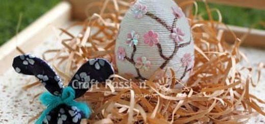 Пасхальное яйцо из пряжи. Мастер-класс