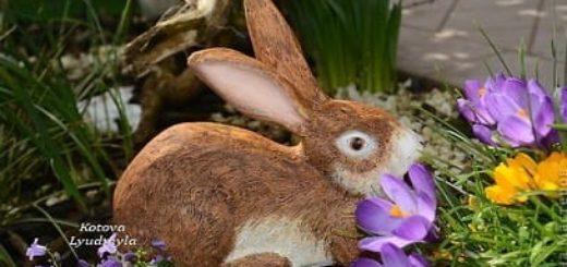 Пасхальный кролик из папье маше и глины KERA plast