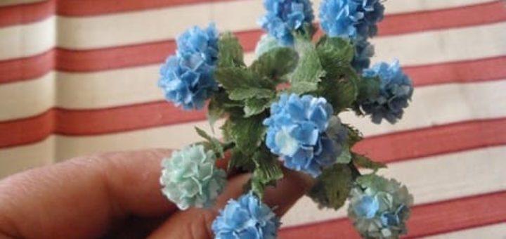 Цветы гортензии из бумаги. Мастер-класс