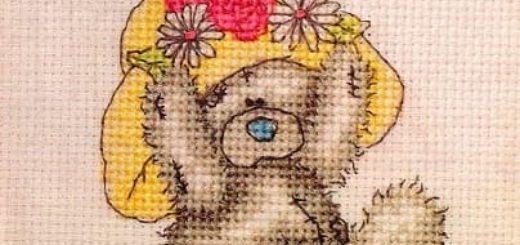 Плюшевый мишка. Схемы вышивки крестиком