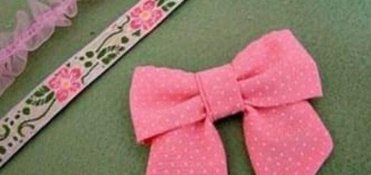 Бантик для украшения детской одежды. Шитье