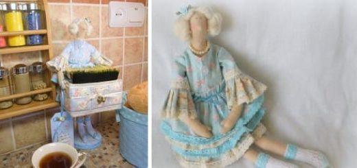 Кукла ТИЛЬДА - хранительница чайных пакетиков