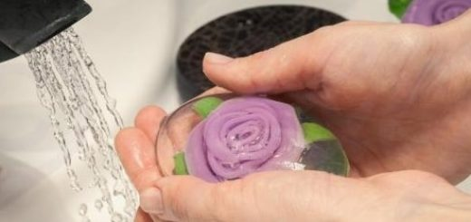 Мыло с объемной розой. Мастер-класс