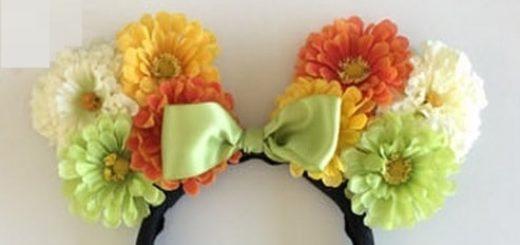 Ободок с цветочными ушками для детского утренника