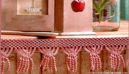 Вязание крючком. Бордюр с висюльками