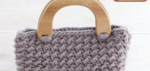 Вяжем сумочку. Рельефный узор крючком