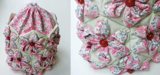 Японская сумочка-мешочек ОРИГАМИ в технике пэчворк
