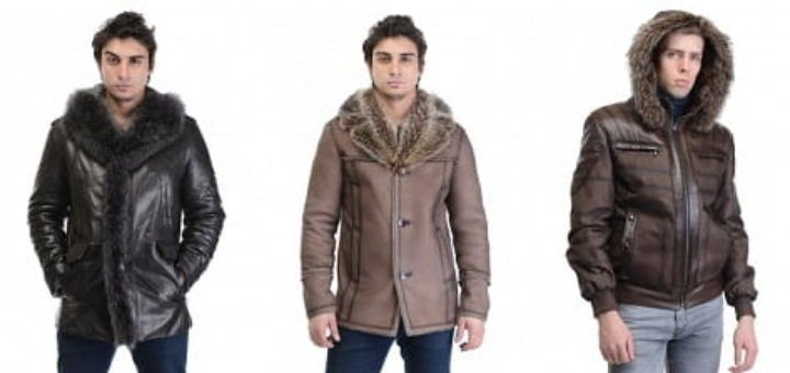 Мужские кожаные куртки и дубленки от фабрики Каляев