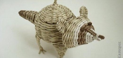 Плетение из газетных трубочек. ЕНОТ