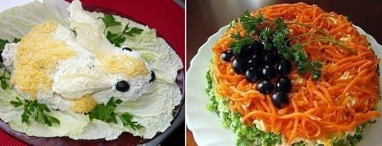 Рецепты салатов - Белый КРОЛИК и ИЗАБЕЛЛА