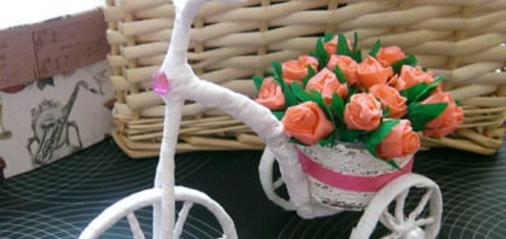Сувениры ручной работы. Велосипед из проволоки